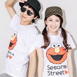 Elmo大臉哈哈笑短T