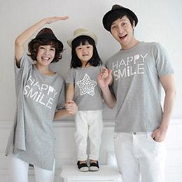 韓版數字星星親子裝上衣