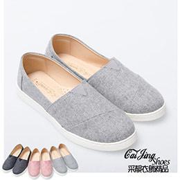 素色抓摺風時尚少女鞋