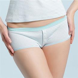 日式棉柔條紋平口褲