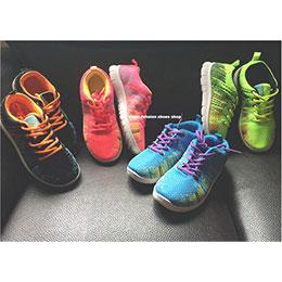 時尚編織螢光多彩輕量休閒鞋