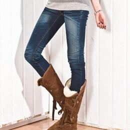 可塞靴低腰牛仔褲