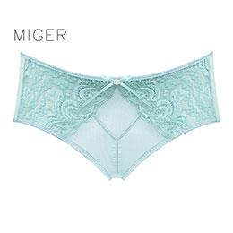 密格-蕾絲網紗中低腰三角內褲