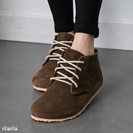 寬版綁帶大頭包鞋
