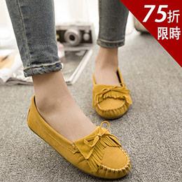 7色│流蘇蝴蝶結馬卡龍豆豆鞋