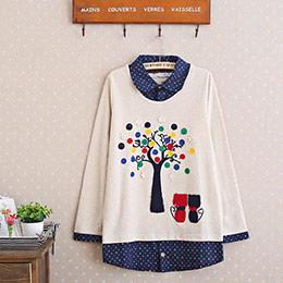 【升級版】純棉大樹小貓2件式T恤