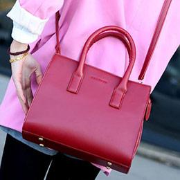 3色│經典素面定型手提包