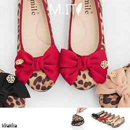 3色│豹紋大朵結柔軟豆豆鞋
