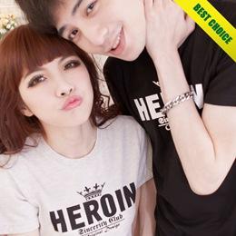 韓系HEROIN小皇冠T恤