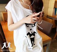 卓別林印花圓領短袖T恤
