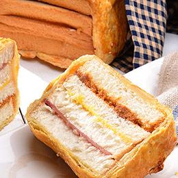 回魂美食★火腿起酥三明治一條