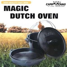 【露營趣】12吋三件式荷蘭鍋 鑄鐵鍋