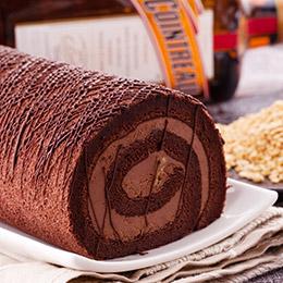 黑白配❤黑絲綢蛋糕+北海道鮮乳捲