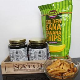 養生黑芝麻醬*2/金黃焦糖香蕉脆片組