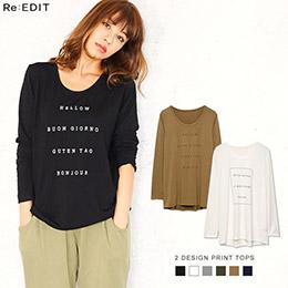 Galstar 6色slogan長版T-Shirt