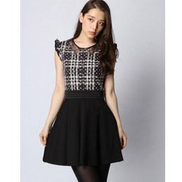 LOVELESS 無袖條紋連衣裙