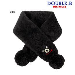 Double B 黑色熊圍巾