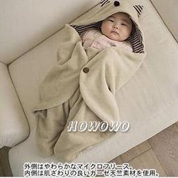 嬰兒包巾小魔怪多功能外出抱毯包巾