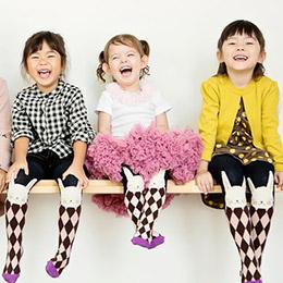 台灣設計師兔子棱格紋褲襪