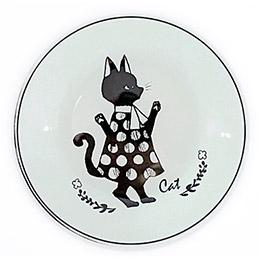 奇幻森林淑女貓咪圓形餐盤