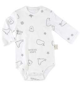 棉葉寶寶嬰兒有機棉長袖包屁衣