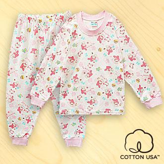 三麗鷗  純棉淺粉色長袖居家套裝