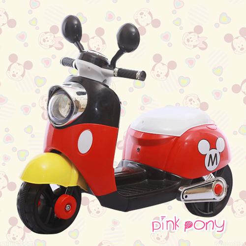 熱銷!寶貝的米奇電動摩托車