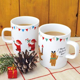 溫馨團員歡樂聖誕派對馬克對杯