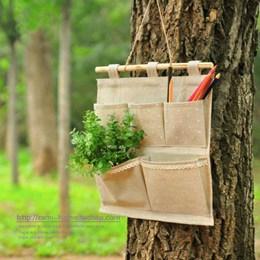 棉麻收納掛袋 雜物吊掛式收納袋