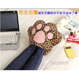 毛绒貓爪USB暖腳寶