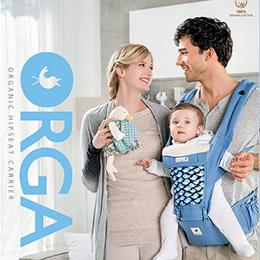 韓國 Pognae ORGA 有機棉座墊式揹巾