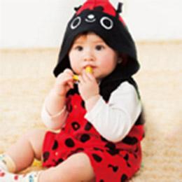 日本童裝-可愛瓢蟲!連身衣+長袖T恤2件組