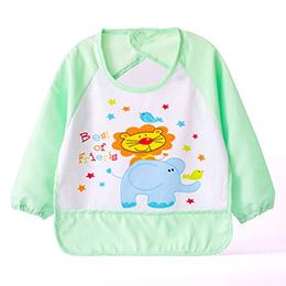 LBB寶寶卡通有袖防水吃飯衣/反穿衣/畫畫衣