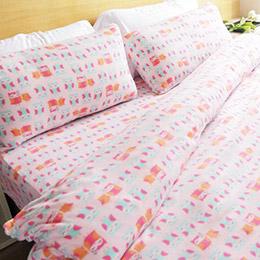 高級搖粒絨 三件式兩用毯床包組 台灣製