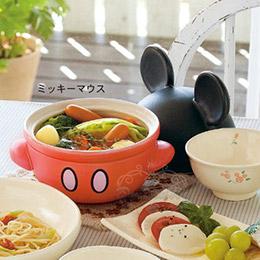 日本製迪士尼米奇造型陶鍋