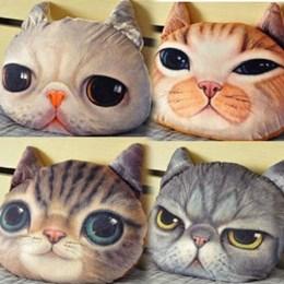 卡通3D喵星人貓咪靠墊