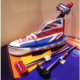 法國文創Letterboxjp英國國旗鞋筆袋
