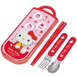 Hello Kitty 三麗鷗/迪士尼日製三件式餐具組