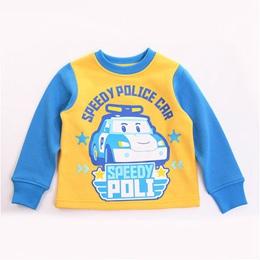 POLI正版厚圓領長袖T恤