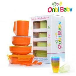美國 Onbi baby 不繡鋼餐具組