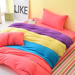 3M吸濕排汗水漾彩粉-單/雙人床包組