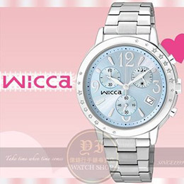CITIZEN日本星辰Wicca施華洛世奇系列派對女孩計時腕錶