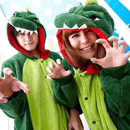 大恐龍連身情侶睡衣