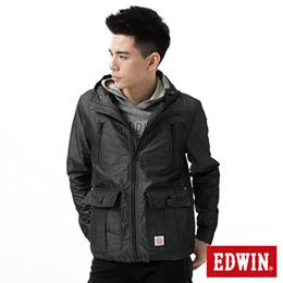 EDWIN 拼紗單層 風衣外套