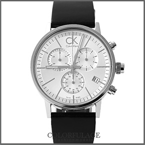 Calvin Klein經典真三眼計時腕錶