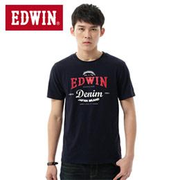 EDWIN 龜裂LOGO T恤