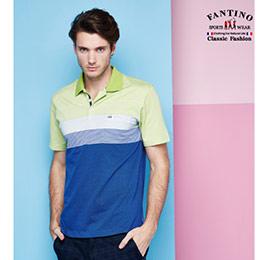 休閒亮色設計吸濕排汗POLO衫