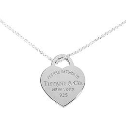 TIFFANY&Co. 心形吊飾鍊墜/項鍊
