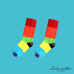 繽紛色彩拼接造型★天然純棉孩童襪