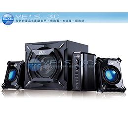 Genius昆盈 GX-Gaming 系列 SW-G2.1 2000 冷冽攝蠍 重低音喇叭